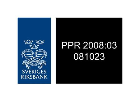 PPR 2008:03 081023. Figure 1. Repo rate with uncertainty bonds Per cent, quarterly averages Source: The Riksbank.