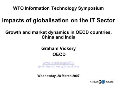 Impacts of globalisation on the IT Sector