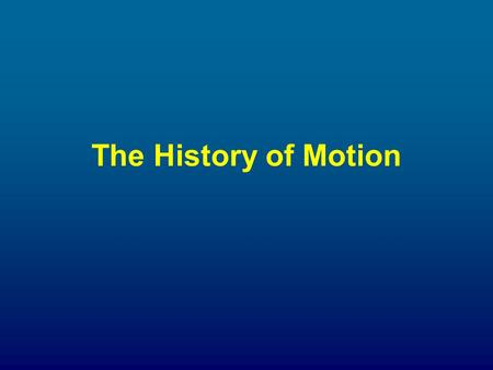 The History of Motion. ARISTOTLE (384-328BCE) Greek Philosopher.