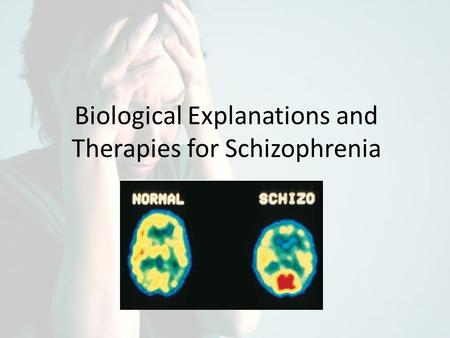 Biological Explanations and Therapies for Schizophrenia