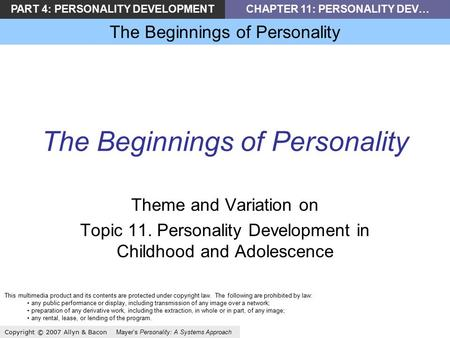 an examination of the personality theory by freud Participants in the exam control condition also freud's theories 112 the origins of personality by university of minnesota is licensed under a creative.