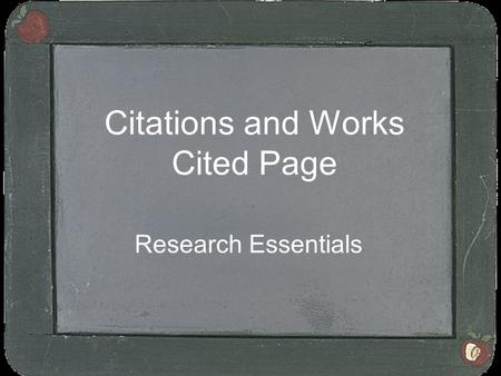 Citations and Works Cited Page Research Essentials.