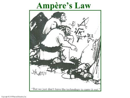 Copyright © 2009 Pearson Education, Inc. Ampère's Law.