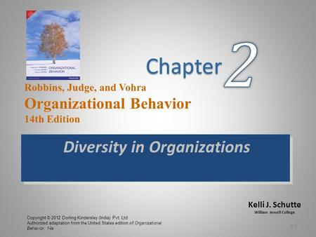 Kelli J. Schutte William Jewell College Robbins, Judge, and Vohra Organizational Behavior 14th Edition Copyright © 2012 Dorling Kindersley (India) Pvt.