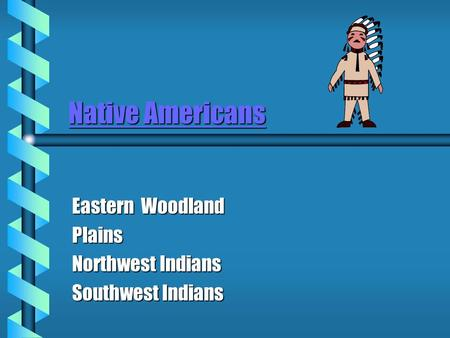 Eastern Woodland Plains Northwest Indians Southwest Indians
