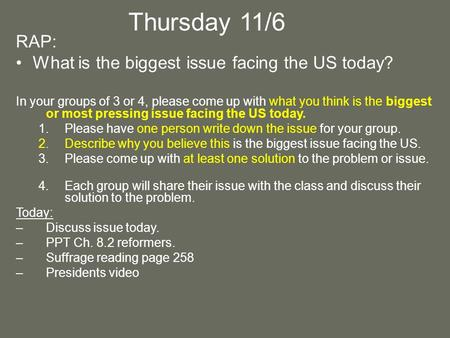 The biggest problem facing america