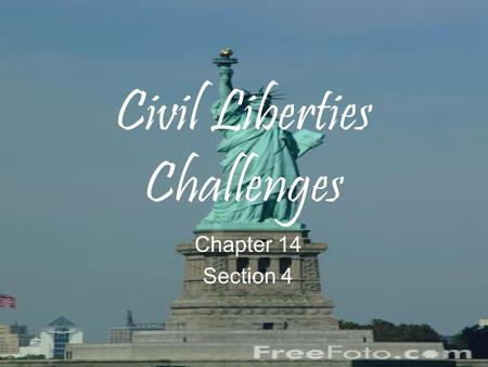 Civil Liberties Challenges Chapter 14 Section 4. Affirmative Action Affirmative Action is a set of policies developed in the 1960s to remedy past discrimination.