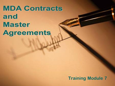 Training Module 7. What You'll Learn In This Module In what areas may Conservation Districts enter into a contractual agreement with Michigan Department.