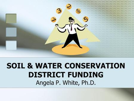 SOIL & WATER CONSERVATION DISTRICT FUNDING Angela P. White, Ph.D.