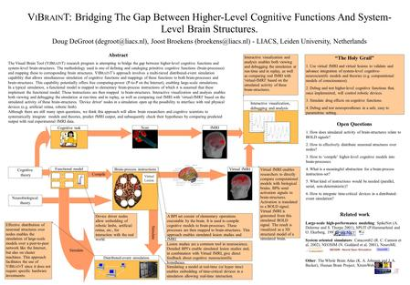 V I B RAIN T: Bridging The Gap Between Higher-Level Cognitive Functions And System- Level Brain Structures. Abstract The Visual Brain Tool (V I B RAIN.