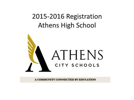 2015-2016 Registration Athens High School. Four-Year Plan Tips Use your transcript to fill in classes you have already taken. Use the online Course.