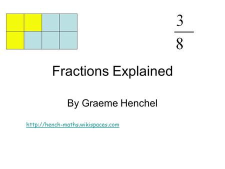 Fractions Explained By Graeme Henchel