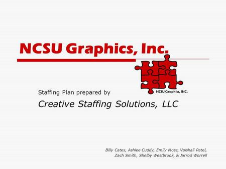 NCSU Graphics, Inc. Creative Staffing Solutions, LLC