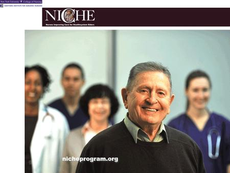 Nicheprogram.org. Our Objectives Discuss the implications of the aging population for our hospital Discuss the opportunities and resources offered by.