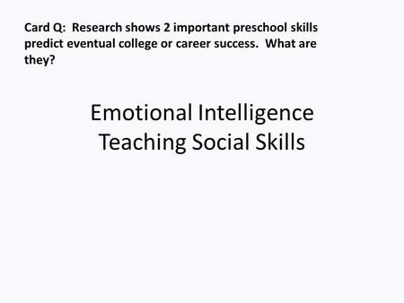 social intelligence and employment success Non cognitive skills and personality traits: labour market  non cognitive skills and personality traits:  success these abilities include social skills,.