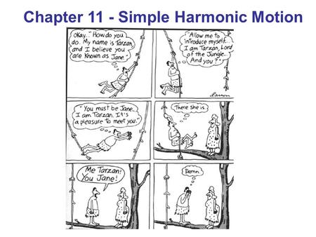 Chapter 11 - Simple Harmonic Motion