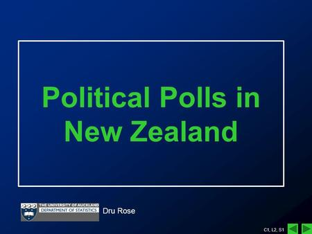 C1, L2, S1 Political Polls in New Zealand Dru Rose.