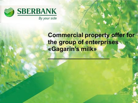 Commercial property offer for the group of enterprises «Gagarin's milk» __________________.