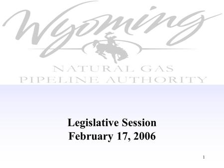 1 Legislative Session February 17, 2006. 2 Proposed Legislative Changes Increase WPA bonding capacity from $1 billion to $3 billion Expand State Treasurer's.