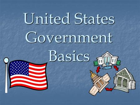 United States Government Basics. Legislative Branch Bicameral Legislature Congress Senate House of Representatives.