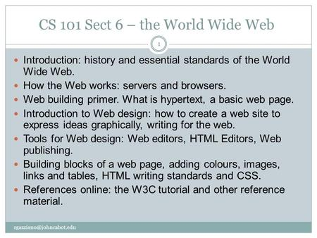 an introduction to the world wide web The world wide web is a part of the internet where text, graphics, video, and audio (when used in combination, these are often referred to as multimedia) are combined in a way that allows users to move from one location to another by clicking on a word or graphic image.