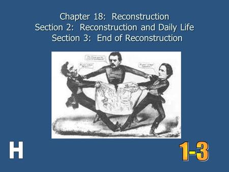 Chapter 18: Reconstruction Section 2: Reconstruction and Daily Life Section 3: End of Reconstruction.