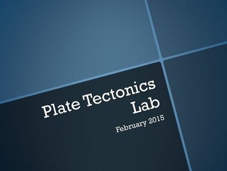 Plate Tectonics Lab February 2015. Types of Plate Boundaries ConvergentDivergentTransformSubduction.