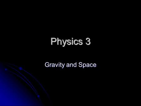 Physics 3 Gravity <strong>and</strong> <strong>Space</strong>. C/WEarth, Moon & Sun21-Oct-15 Aims:-4 know how they move in <strong>space</strong> 5 describe their path across the sky 5 describe their path.
