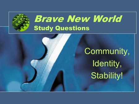 Brave New World Questions - Shmoop