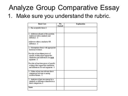 compare contrast essay reflection writing a comparative essay  analyze group comparative essay