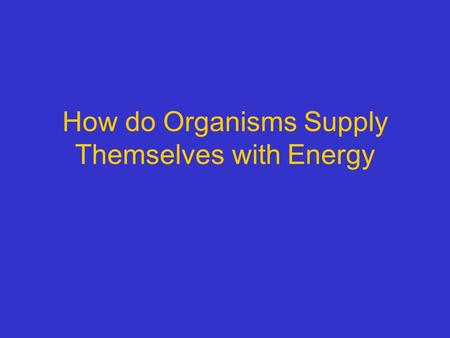 How do Organisms Supply Themselves with Energy. Copyright © 2005 Pearson Education, Inc. publishing as Benjamin Cummings Light energy ECOSYSTEM CO 2 +