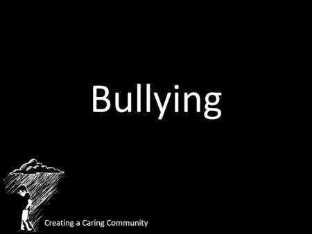 Bullying Creating a Caring Community. Four Markers of Bullying Imbalance of Power Intent to Harm Threat of Further Aggression Terror.
