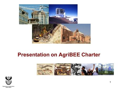 1 Presentation on AgriBEE Charter. 2 Agenda Achieving Broad-based BEE Ownership Statement 100 Consolidation of Economic Control through Management Statement.