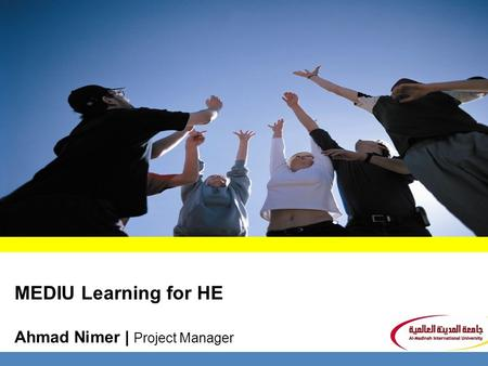 MEDIU Learning for HE Ahmad Nimer | Project Manager.