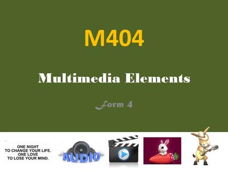M404 Multimedia Elements Form 4.