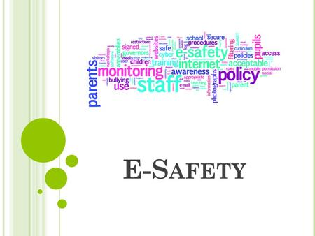 E-S AFETY. W ELCOME ! Accessed anywhere anytime Easy to communicate with friends and family Wide and flexible range of information Motivational and fun.