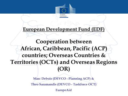 European Development Fund (EDF)