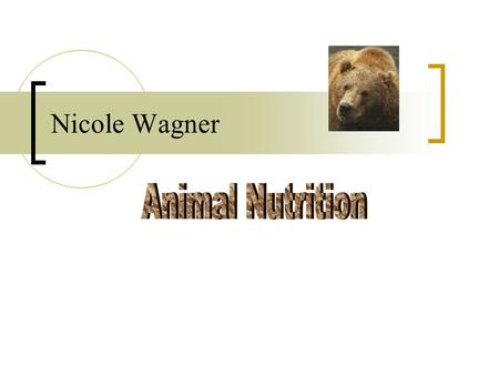 Nicole Wagner. Table of Contents Nutritional Requirements Food Types Feeding Mechanisms Overview of Food Processing (Click on topics to access slides)