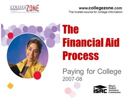 Www. collegezone.com The trusted source for college information. Paying for College 2007-08 The Financial Aid Process.
