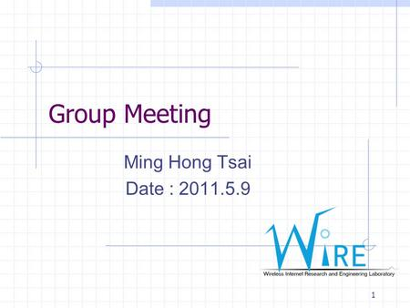Group Meeting Ming Hong Tsai Date : 2011.5.9 1. Toward Ubiquitous Massive Accesses in 3GPP Machine-to- Machine Communications 2.