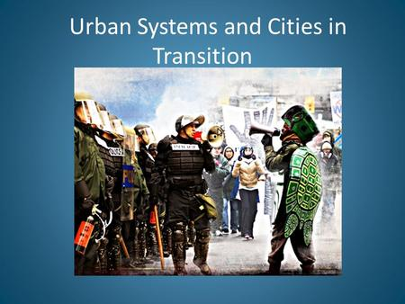 Urban Systems and Cities in Transition. Freeways, Regional Decentralization, and Metropolitan Sprawl (1945-1973) Rise of interstate highway system and.