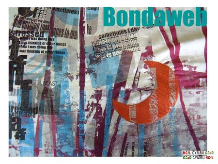 Bondaweb. It can be used to hold up hems or it can be painted to make interesting effects. A wide range of patterns or designs can be created – stripes,