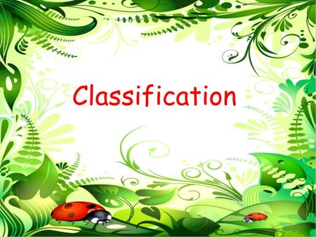 Classification. Lesson Objective To understand how organisms are classified. Learning Outcomes (We will be able to...) 1.All: Recall that organisms can.
