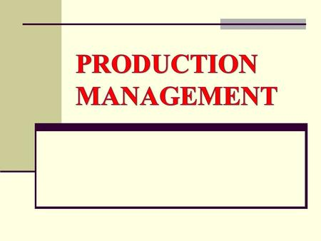 What is Production management? Production management is the process of effectively planning and regulating the operations of that part of an enterprise.