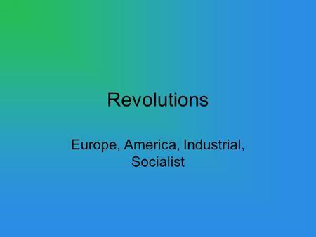 World History Events 1750-1914