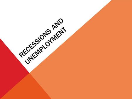 "RECESSIONS AND UNEMPLOYMENT. ""It's a recession when your neighbor loses his job; it's a depression when you lose your own."" -President Harry Truman."