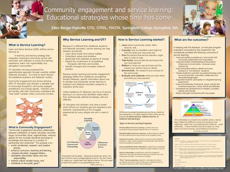 "What is Service Learning? Learn and Serve America (2009) defines service learning as ""a teaching and learning strategy that integrates meaningful community."