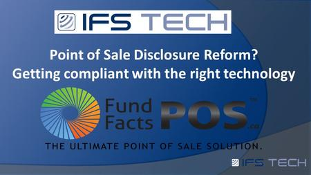 Point of Sale Disclosure Reform? Getting compliant with the right technology.