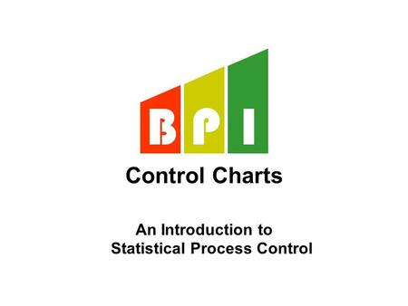 Control Charts An Introduction to Statistical Process Control.