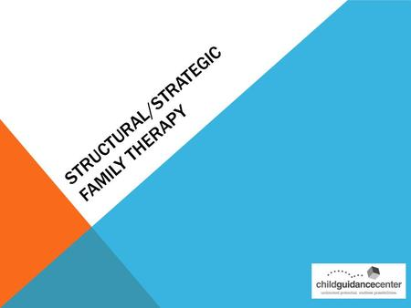 STRUCTURAL/STRATEGIC FAMILY THERAPY. Founded on the immediacy of the present reality Oriented to solving problems Above all-contextual: referring to the.